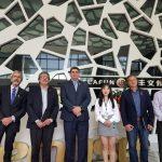 Suarez visitó el Centro de Monitoreo de Guangdong y una de las empresas audiovisuales más grande del mundo
